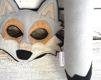 Grey Wolf Costume - Felt Mask, Tail, & Vest - Eco Felt or Wool
