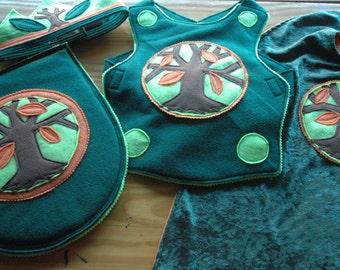 Woodland Adventurer Gift SET - Super Cape - Super Hero Costume - Halloween Costume - Kid Costume