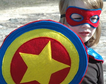 Super Hero Shield BLUE and RED - Halloween Costume - Halloween Costume - Kid Costume