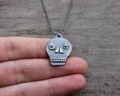 Silver Calavera pendant #3