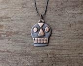 Bronze Calavera pendant #6