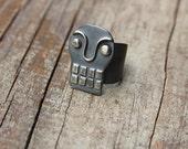 Silver Calavera ring #4