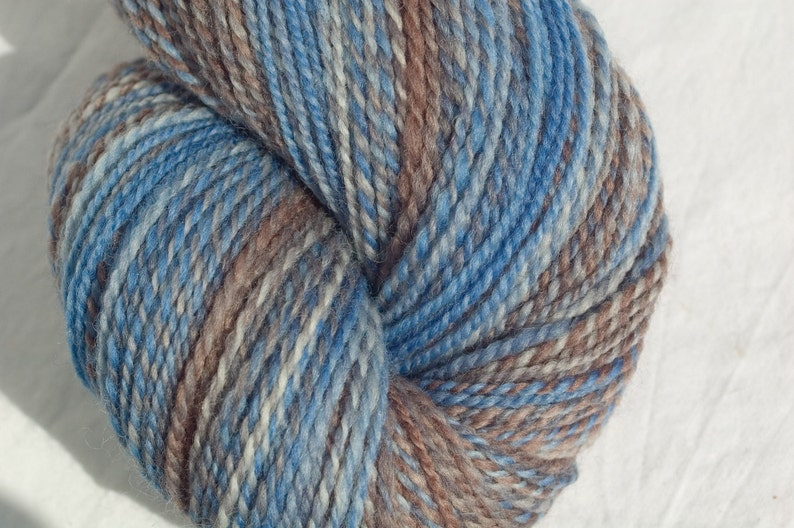 4oz in Winter Is Coming Hand dyed Falkland wool top