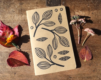 Seed pods cahier journal, large, lined, kraft