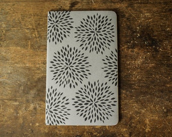 Burst cahier journal, large, lined, gray