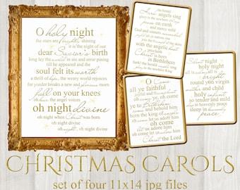 photo about Christmas Carol Lyrics Printable Booklet referred to as Carol music lyrics Etsy