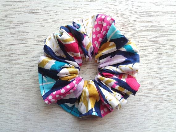 Feather Scrunchie Boho Scrunchie Blue Scrunchie Pink  012aa4833bd