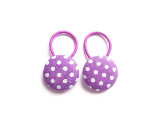 Polka Dot Hair Elastics Purple Hair Elastics White Hair  7a5a80022c0