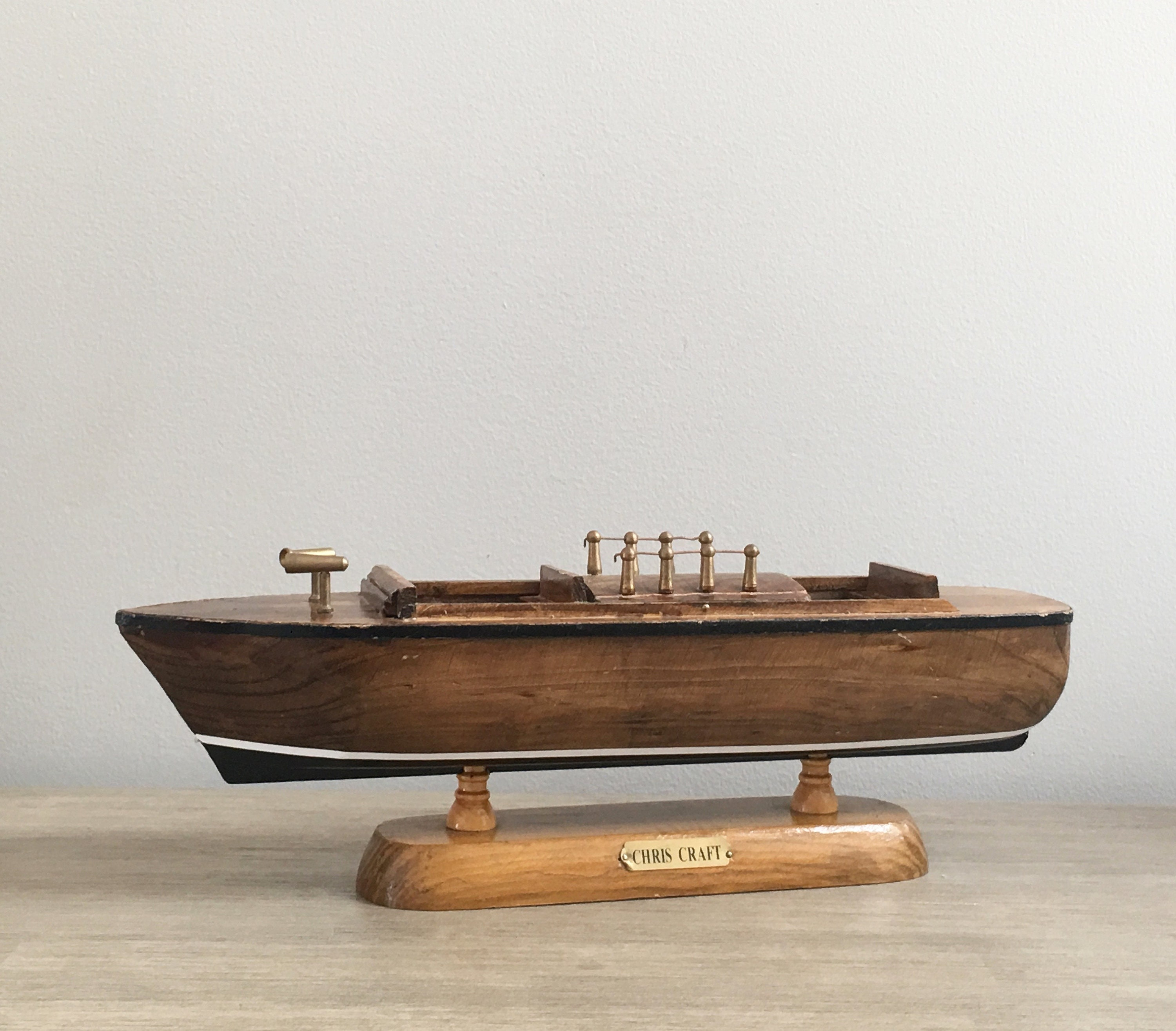 Miniature Chris Craft Runabout Cruiser Boat Model