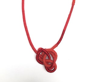 Wrapped and knotted necklace