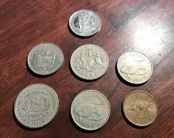 MEXICO 100 PESO 1977-78 .720 SILVER CHOICE BU 7 COINS TOTAL.