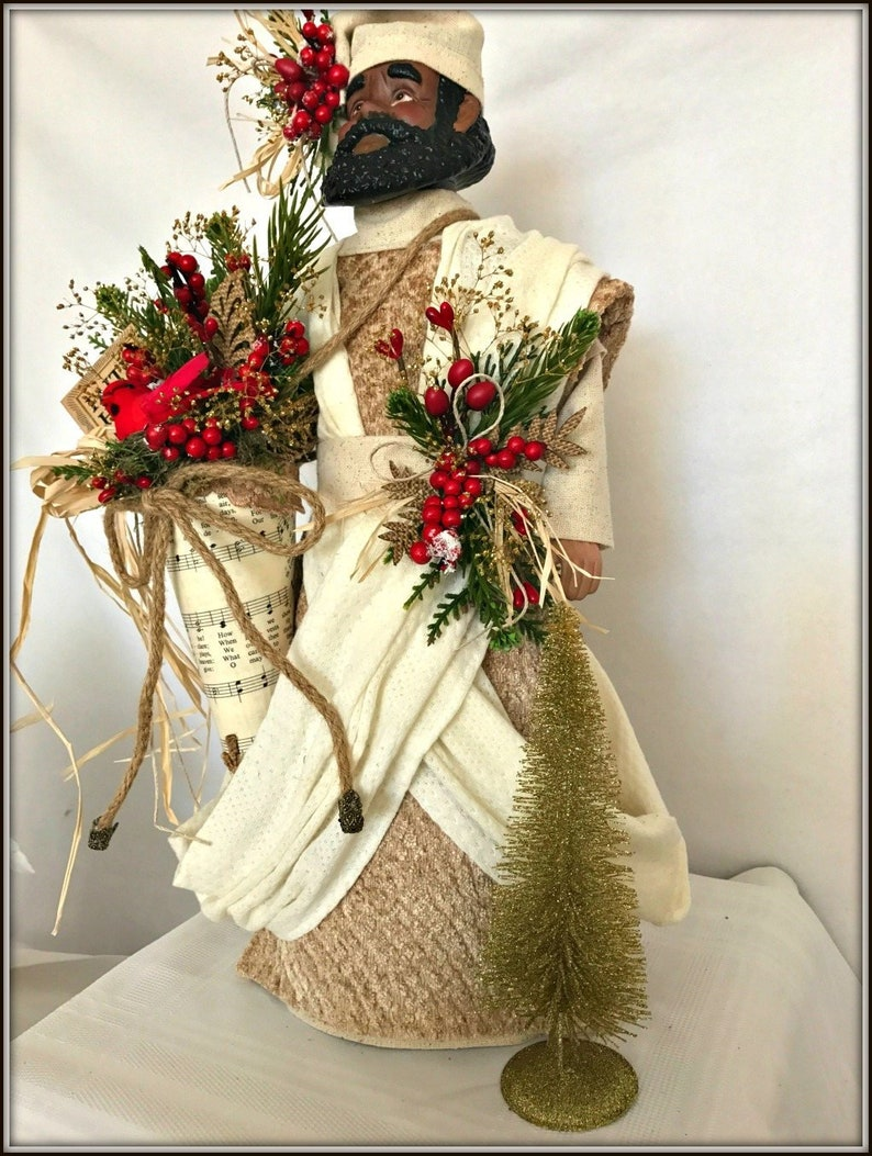 African American Male Christmas Decoration Brother Holiday Etsy