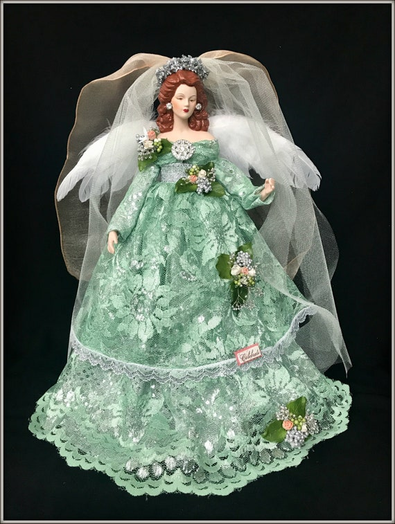 Angel Christmas Tree Topper in Silver Or Custom CNA Personal Attendant Christmas Gift Caregiver Gifts