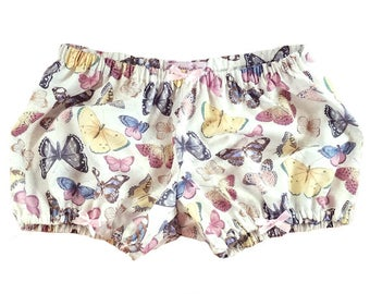 JULY PREORDER Lolita Bloomers butterfly print with gold metallics shorts cotton underwear lingerie drawers pajamas nightwear sleepwear