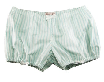 JULY PREORDER Lolita Bloomers mint blue stripe shorts cotton underwear lingerie drawers pajamas nightwear sleepwear cute