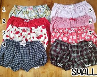 READY TO SHIP Lolita Bloomers polka dot pastel plaid gingham shorts cotton underwear lingerie drawers pajamas nightwear sleepwear cute