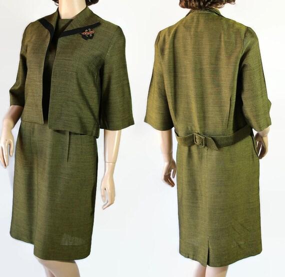 50s Dress, Jacket, Marcy Allen Original, Wiggle Dr