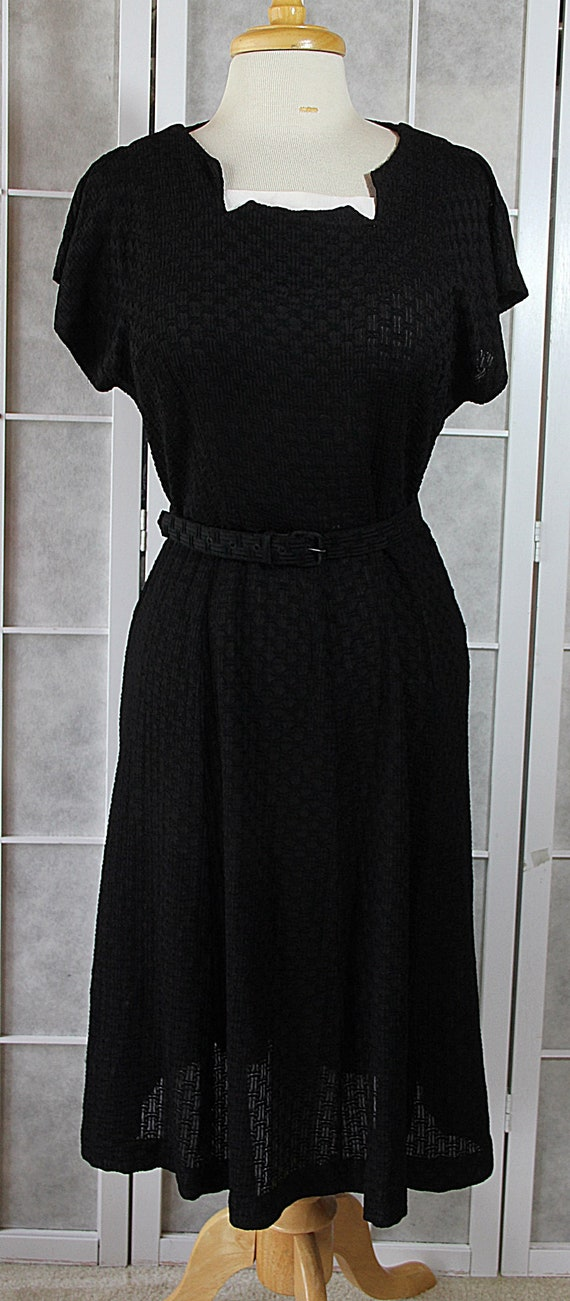 dd1d1847e92 ON SALE 50s Plus Size Dress Little Black Dress Plus Size