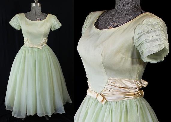 Emma Domb Dress, 60s Party Prom Vintage Wedding Pa