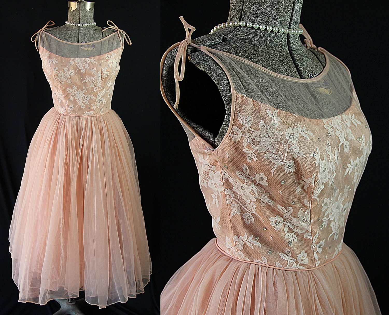 50s Dress Emma Domb Prom Cocktail Vintage Wedding Dress