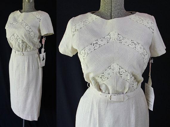 50s 60s Dress, Minx Modes, Vintage Deadstock, Wig… - image 1