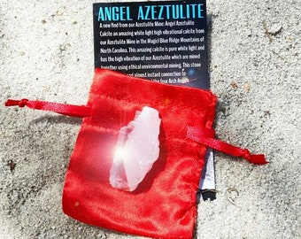 Angel Azeztulite One Medium with Pouch and Certificate of Authenticity NC