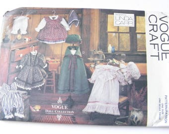 UNCUT Doll Clothes Linda Carr Vogue Doll Collection Pattern 8337 Early American Doll