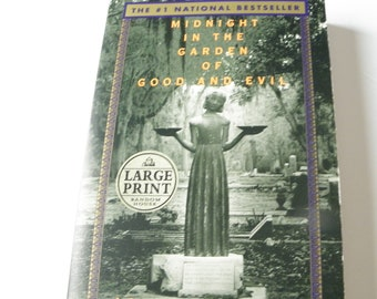 1994 midnight in the garden of good and evil by john berendt large print softcover - Midnight In The Garden Of Good And Evil Book