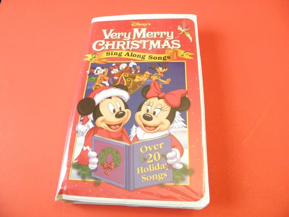 Disney S Very Merry Christmas Sing Along Songs Vhs Video Etsy