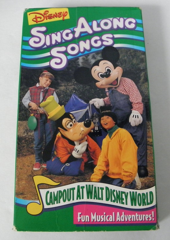 Vhs Disney Sing Along Songs Campout At Walt Disney World Video Etsy