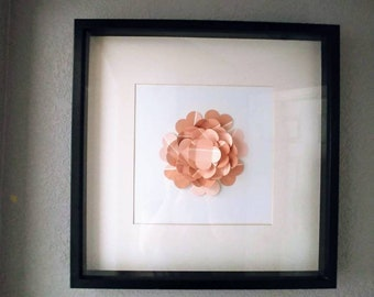 Recycled Paint Sample Flower (in a recycled frame)