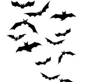 """Sheet of scary realistic flying bat temporary transfer tattoos Halloween  3 x 3""""  _ FAST SHIPPING 2 copies"""