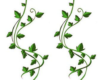 Ivy leaf vine temporary tattoos - 4 x sheet for arm, wrist or leg bands    fake but realistic   FAST SHIPPING