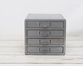 Utility Cabinet Storage 4 Drawer Compartments Small Parts Box & Utility cabinet   Etsy
