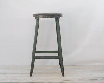 Vintage Kitchen Stool Step Stool Metal Stool Industrial Stool Metal Short  Stool K2