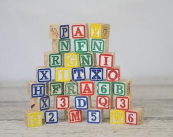 Vintage Wood Blocks Vintage Wood Alphabet Blocks #1