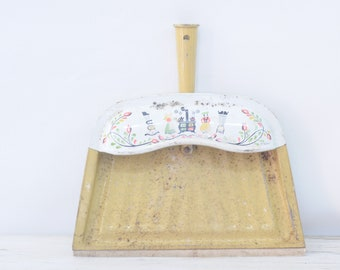 Vintage J. V. Reed USA Metal Dust Pan Crumb Catcher Crumb Collector Dust Pan