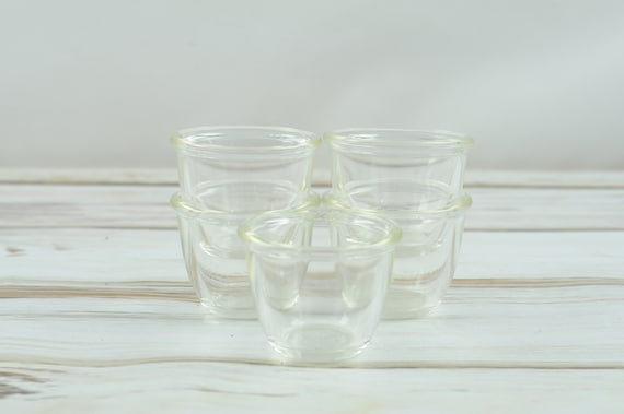 Clear Glass Star BowlsThick Glass Set of 2 Home Decor Vintage*