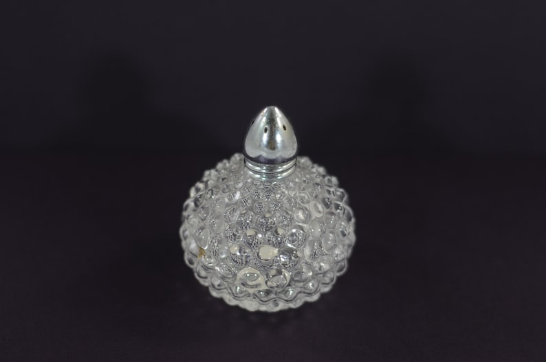 IW RICE Made in Japan Clear Hobnail Salt or Pepper Shaker Vintage