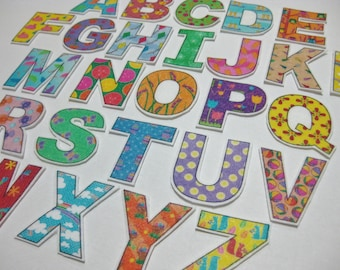 PDF - Spring ABC Alphabet & Number fridge magnets / cut outs / felt board letters - Printable DIY