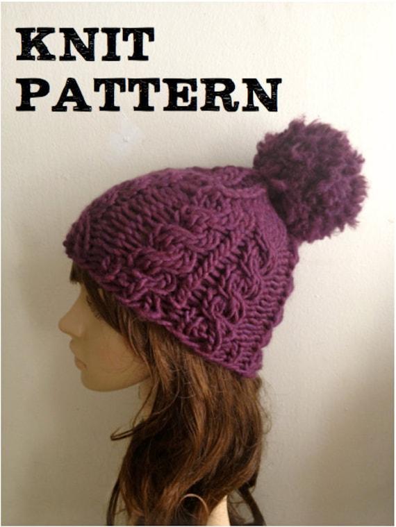 Pdf Pattern Knitarelli Super Chunky Twist Knit Hat One Etsy