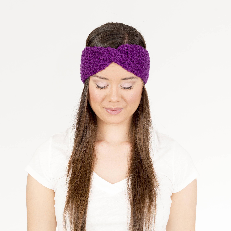 Crochet Pattern The Turban Twist Earwarmer Crochet Pattern Etsy