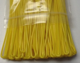 Yellow Luggage Tag worm loops 6 inch 100 per bag