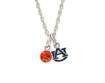 Charms are  1 approx. Auburn University College Necklace Auburn Necklace