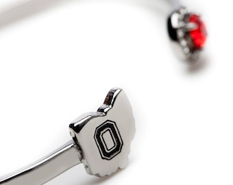 Ohio State Bangle Bracelet | OSU Bangle Bracelet | Ohio State jewelry | Ohio State Buckeyes Jewelry | OSU Gifts