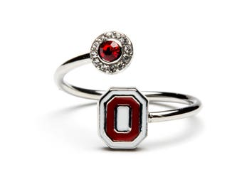 Ohio State Ring   Scarlet and White O Logo   Buckeyes Jewelry   Buckeyes Ring   OSU Jewelry   Ohio State University Jewelry   OSU Gift