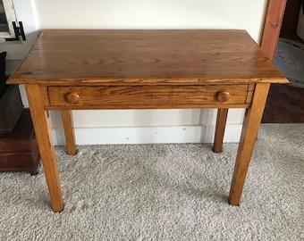 Oak Writing Desk Etsy