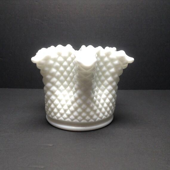 Westmoreland Milk Glass Star Vase Planter 4 34 Tall X 6 Etsy