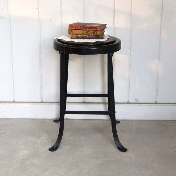 Prime Vintage 22 Metal And Wood Counter Stool Engineers Drafting Machinist Industrial Seating Rustic Painted Black Spiritservingveterans Wood Chair Design Ideas Spiritservingveteransorg