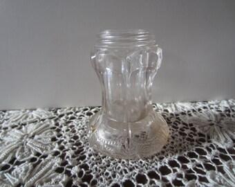 Vintage glass bottle only... no lid